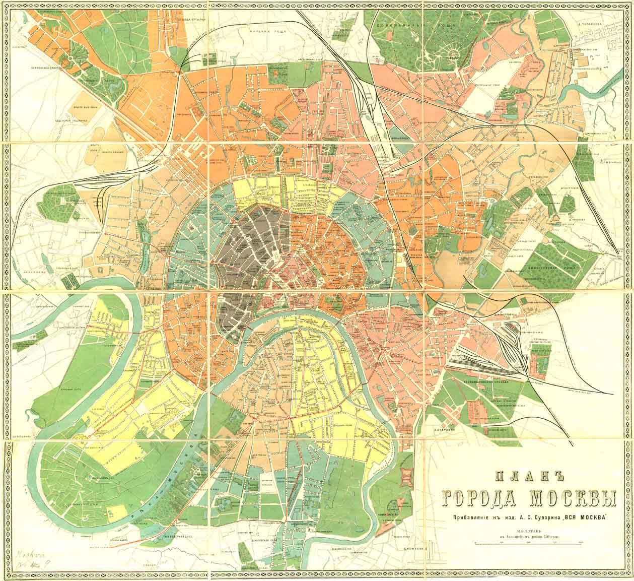 Карты с фотографиями местности москвы